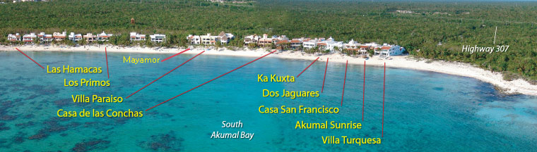 South Akumal Map Akumal Villas Luxury Vacation Rentals in Akumal Mexico